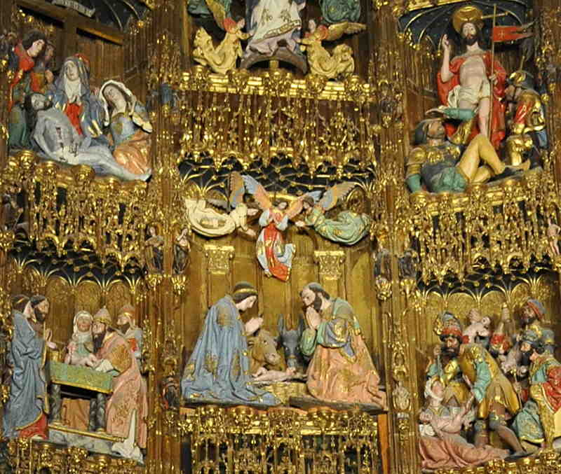 tolede, cathedraledetail, retable