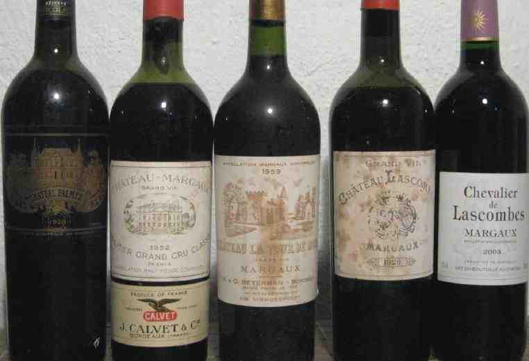 margaux, bottles